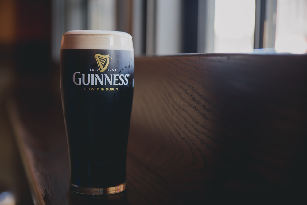 Guinness goes great with our delicious food!
